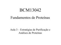 Purificação e análise de proteínas