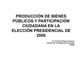 producción de bienes públicos y participación ciudadana en la