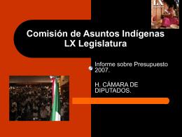 Informe sobre Presupuesto 2007