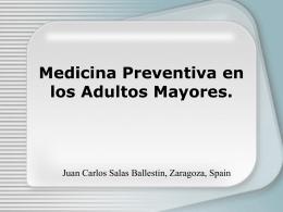Medicina Preventiva en los Adultos Mayores.