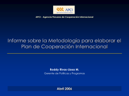 GPP - Metodología Plan de Cooperación