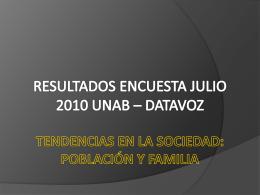 capítulo 1 tendencias en la sociedad: población y familia