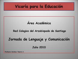 Jornada de Lenguaje - Vicaría para la Educación