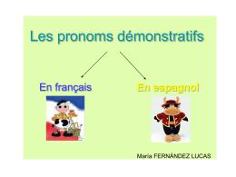 Les pronoms démonstratifs - MediaServer Filología