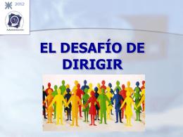 CLASE 02 - EL DESAFÍO DE DIRIGIR