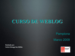 Estructura de un weblog