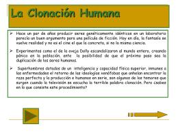 La Clonación Humana