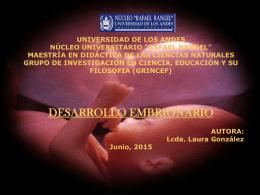 Webquest Desarrollo Embrionario - maestría en didáctica de las