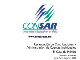 El proceso de recaudación - (FIAP) Federación Internacional de