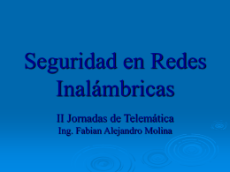 Seguridad en Redes Inalámbricas 802.11b