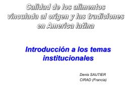 Introducción a los temas institucionales, Denis Sautier, Sinergi