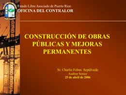 construcción de obras públicas y mejoras permanentes