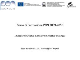 """Corso - Liceo Scientifico Statale """"Renato Caccioppoli"""""""