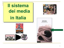 Il sistema dei media - Facoltà di Scienze Politiche