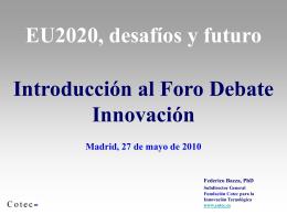 Europa 2020 e innovación, por Federico Baeza, subdirector general