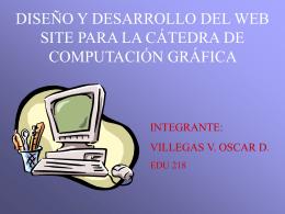Catedra Computación Gráfica en la Universidad Valle