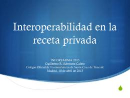 Interoperabilidad de la receta médica privada