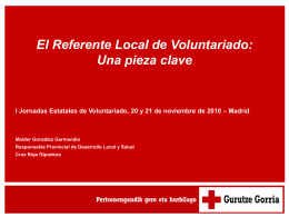 El Referente Local de Voluntariado