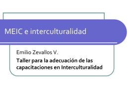 capacitacion economia interculturalidad