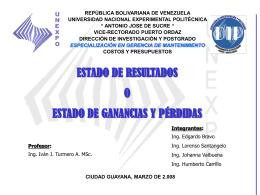Estado de Ganancias y Pérdidas – PDVSA (2006)