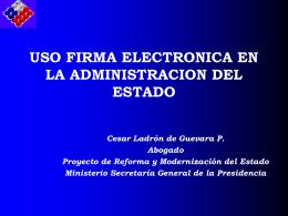 Uso de la firma electrónica en la Administración del Estado