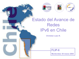 Estado del Avance de IPv6 en Chile
