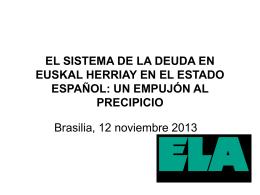 el sistema de la deuda en euskal herriay en el estado español