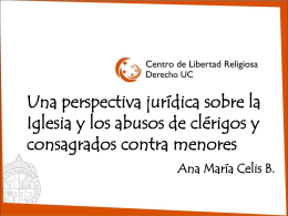 """""""Estado y organizaciones religiosas: desafíos a la luz de"""