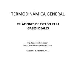 relaciones de estado de gases ideales - Federico G. Salazar