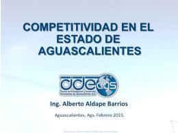 Competitividad en el Estado de Aguascalientes