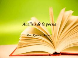 Análisis de la poesía Rachael Abbot