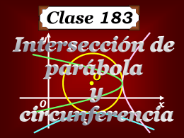 Clase 183: Intersección de Parábola y Circunferencia