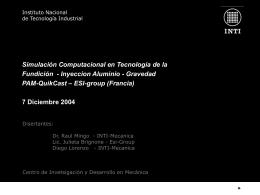 Simulación Computacional en Tecnología de la Fundición