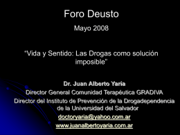 Foro Deusto – Mayo 2008