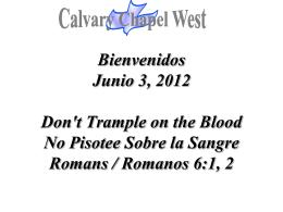 Romans 6:1-2 - Calvary Chapel West