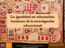 La igualdad en educación: horizonte de la investigación educacional