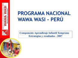 programa nacional wawa wasi - perú