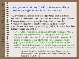 Sobre la versión del Inca Garcilaso