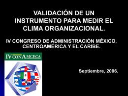 elaboración de un instrumento para evaluar el clima organizacional