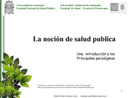 Salud Pública - Universidad Industrial de Santander