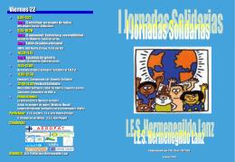 Díptico Primeras Jornadas Solidarias