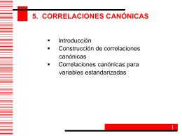 Correlaciones Canonicas