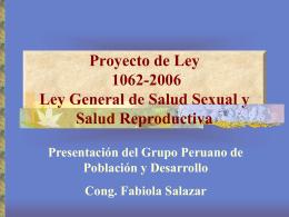 Presentación sobre Salud Sexual y Reproductiva