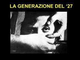 F Generazione del 27 e 36