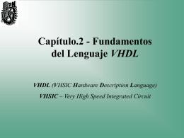 Fundamentos del Lenguaje VHDL - Diseño de Sistemas Integrados