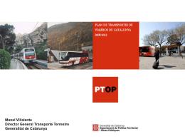 Plan de transporte de viajeros de Catalunya 2008-2012