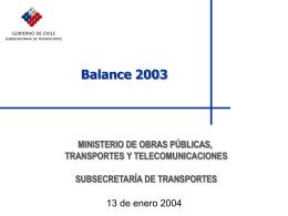 regulación del transporte - Subsecretaría de Transportes