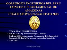 lean construction - constructora y promotora