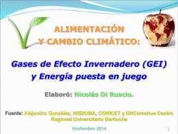GEI y Energia en los Alimentos