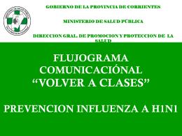 """FLUJOGRAMA COMUNICACIÓNAL """"VOLVER A CLASES"""
